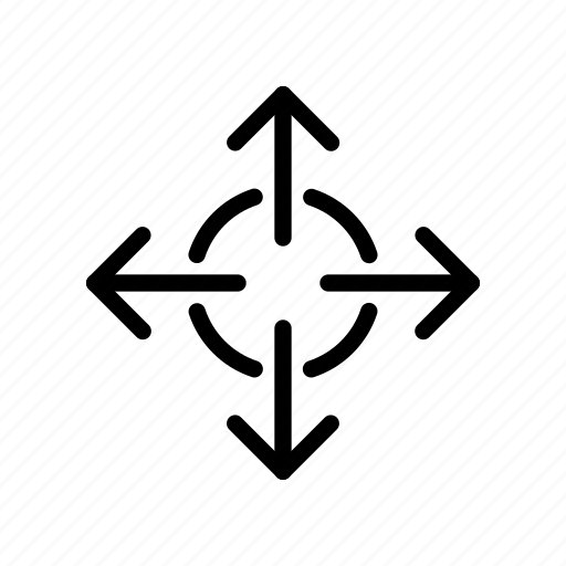 arrow, center, expand, out, way icon