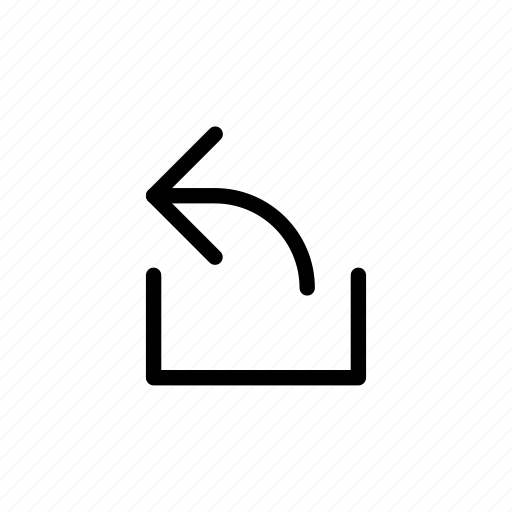 arrow, out, tray, upload, way icon