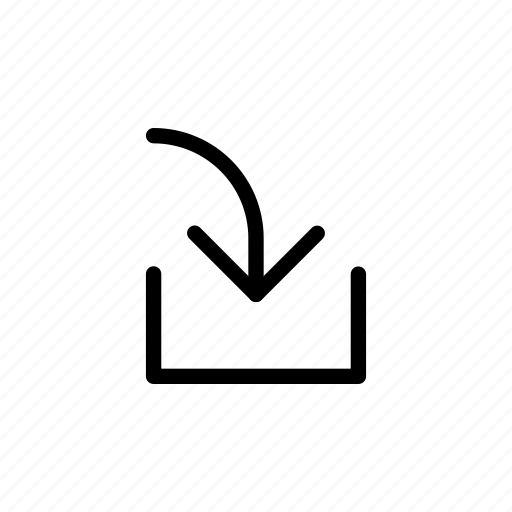 arrow, download, in, tray, upload, way icon
