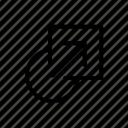 arrow, maximize, way icon