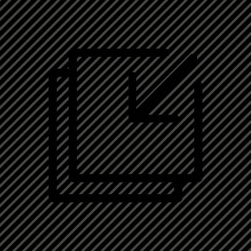arrow, minimize, way icon