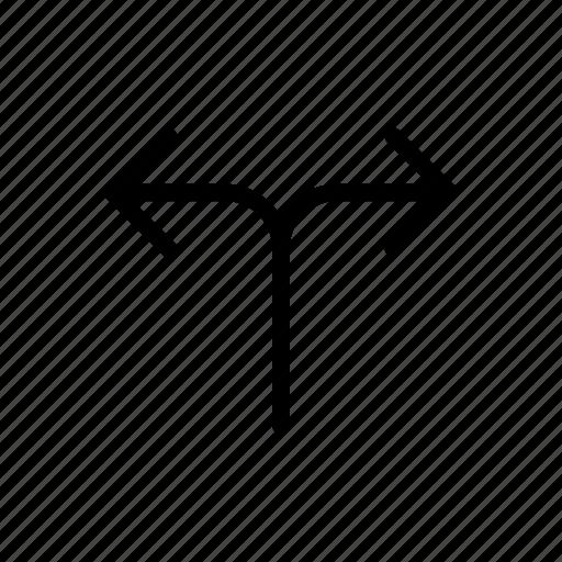 arrow, different, varius, way icon