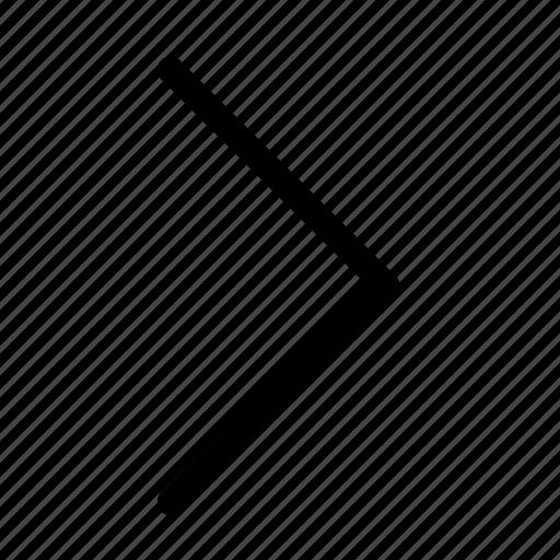 arrow, chevron, next, right arrow icon