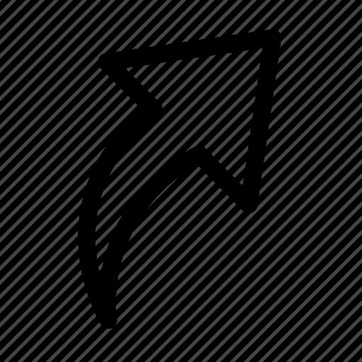 arrow, export, forward, upload, upward icon