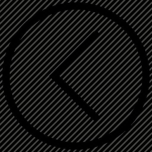 arrow, chevron, left arro, previous icon