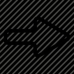 direction, move right, next, right arrow icon