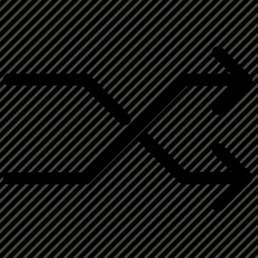 arrows, cross, music control, random, shuffle icon
