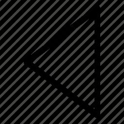 arrow, chevron, left arrow, previous icon