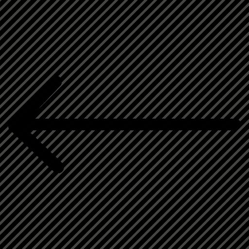 chevron, left arrow, previous icon