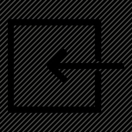 chevron, input, left arrow, previous, resize icon