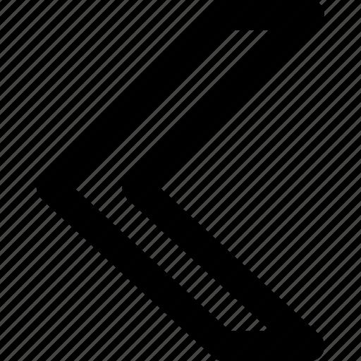 arrow, arrows, back, creative, grid, pointer, previous, shape icon
