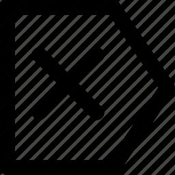 arrow, arrows, chart, creative, grid, left, pointer, shape, x, xleft icon