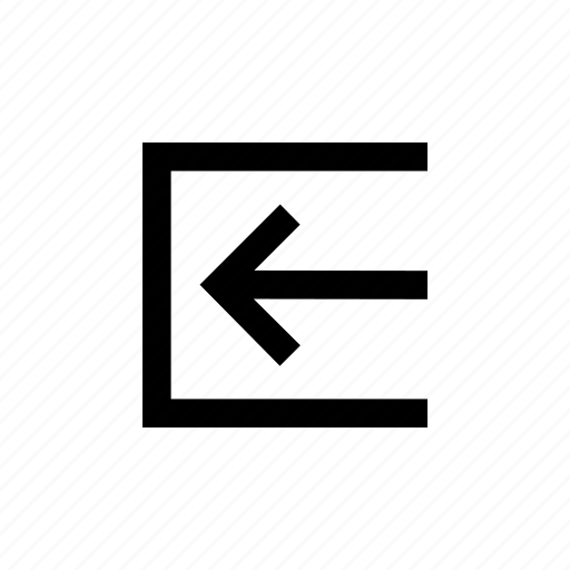 arrow, box, inside, light, right, sign icon