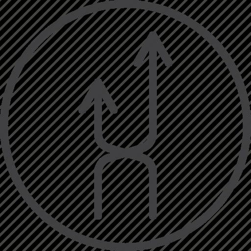 arrows, interchange, intersection, shuffle icon