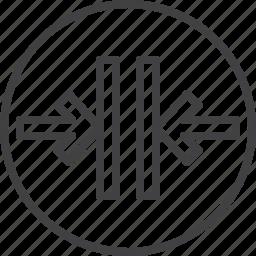 arrows, close, door, elevator icon