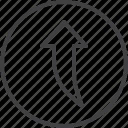 arrow, upload, upper icon