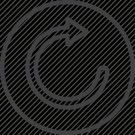 arrow, redo, refresh, reload icon