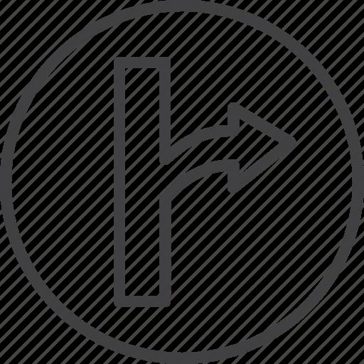 arrow, navigation, right, turn icon
