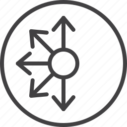 arrows, connector, direction, pointer icon