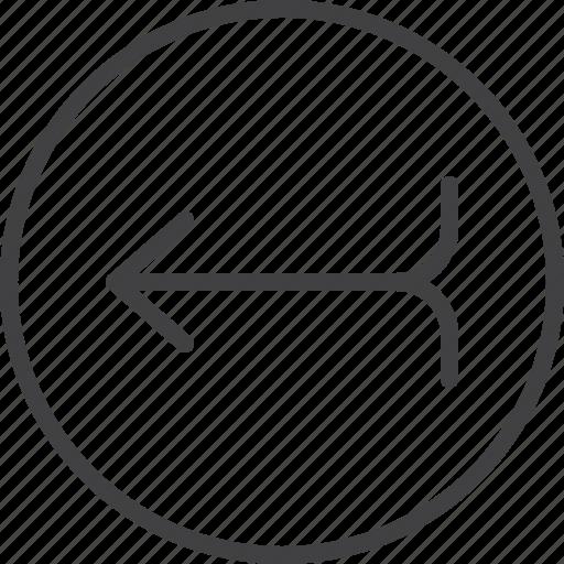 arrows, back, left icon