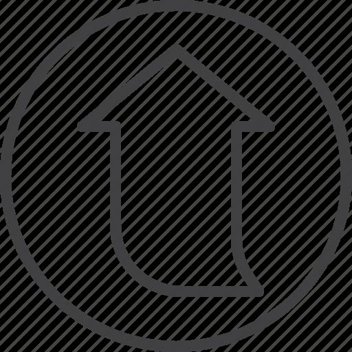 arrow, up, upload, upward icon