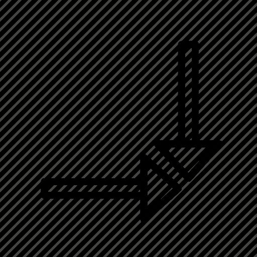 arrow, direction, focus icon
