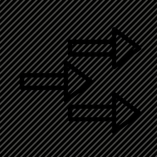 arrow, direction, rain3 icon