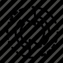arrow, direction, recirculate icon