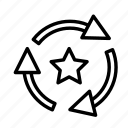 arrow, direction, fav, recycle icon