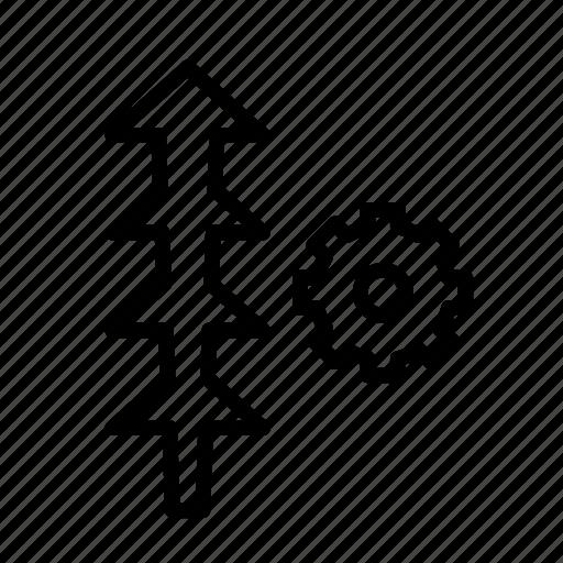 arrow, direction, settings2 icon