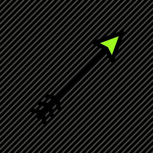 arrow, bow, direction icon