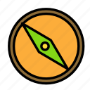 arrow, compass, direction icon