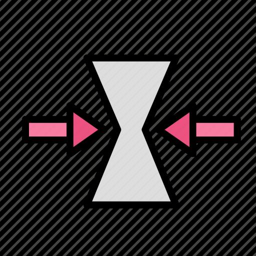 arrow, condense, direction icon
