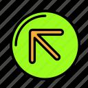 arrow, diagonal, direction