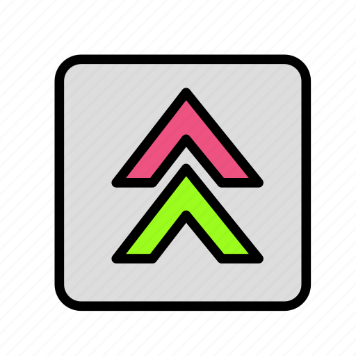 arrow, direction, doubleup icon