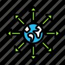 arrow, direction, earth