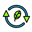 arrow, direction, ecoleaf icon