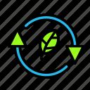 arrow, direction, ecoleaf