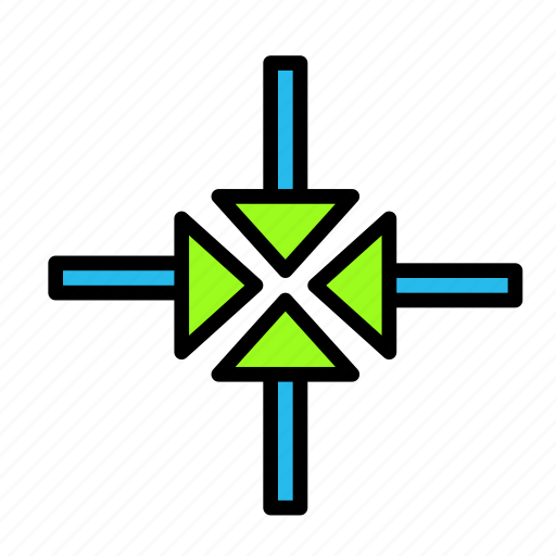 arrow, direction, focus icon