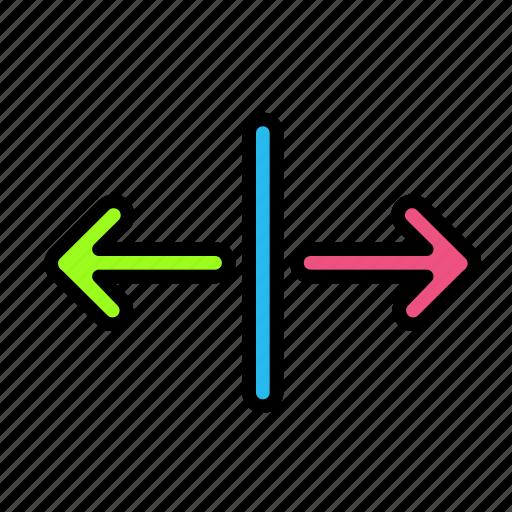 arrow, direction, line7 icon