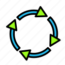arrow, direction, recycle icon