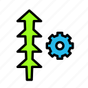 arrow, direction, settings2 icon