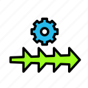 arrow, direction, settings3 icon