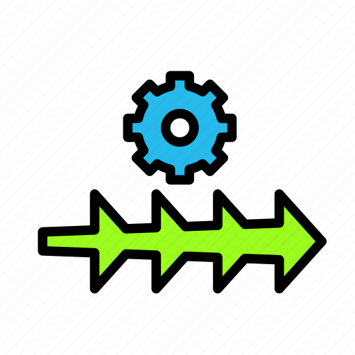arrow, direction, settings3 icon