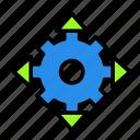 arrow, direction, settings4 icon