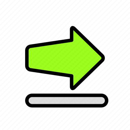 arrow, direction, thick2 icon