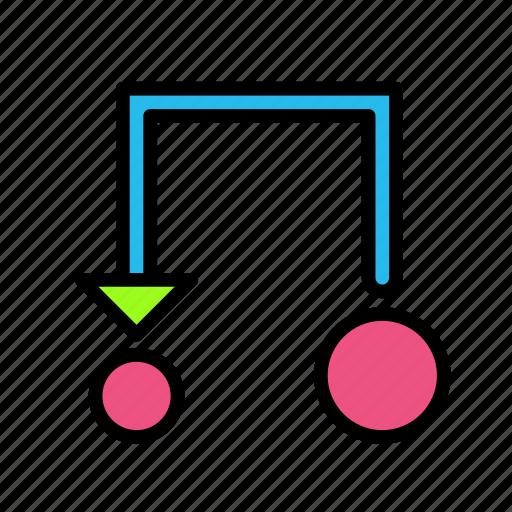 arrow, direction, transform icon