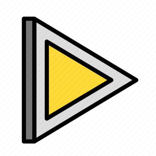 arrow, direction, right, triangle icon