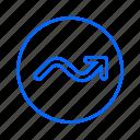 arrow, cursor, pointer, right, up icon