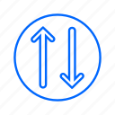 arrow, arrows, directions, navigation, pointer icon